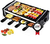 Electric Griddle Grill LOEFME Smokeless Indoor Grill and Outdoor Electric Grills, Portable 2 in 1 with Adjustable temperature control with 8 Mini Pans, for 2-6 People with Family Fun & BBQ Parties