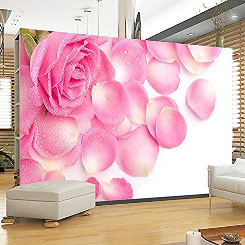 TV-bakgrundsvägg stora tillverkare som säljer sömlös väggbeklädnad TV ros tapet anpassad 3D tapet klistra vardagsrum väggen för sovrum vägg-400 cm x 280 cm