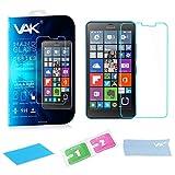 VAK® Microsoft Nokia Lumia 640XL Premium Protector de pantalla de cristal templado original, dureza 9H y fácil instalación sin burbujas, para Microsoft Nokia Lumia 640X L