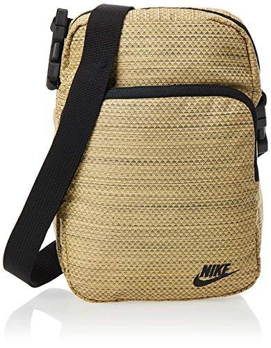 Nike NK Heritage Smit-2.0 MTRL rugzak, unisex volwassenen, goud/zwart/zwart, eenheidsmaat