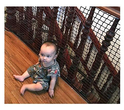 ZXL Trapnet, balkondeurnet, zwarte traptresor, kinderbeveiliging, relingen, deuren, voor kinderen, leuningen, net