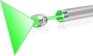 FreeMascot Green Light Line Beam Presenter Pen with Hand-free Tail Switch (Green)