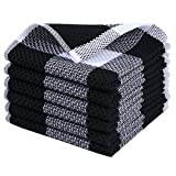 Best Dish Cloths - Homaxy 100% Cotton Waffle Weave Check Plaid Dish Review