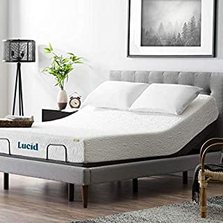 LUCID L300 Bed Base 5 Minute Assembly Adjustable, Twin XL, Charcoal