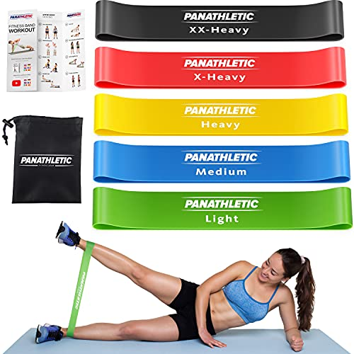 Panathletic Resistance Bands, Set of 5 Bands – 5 Different...