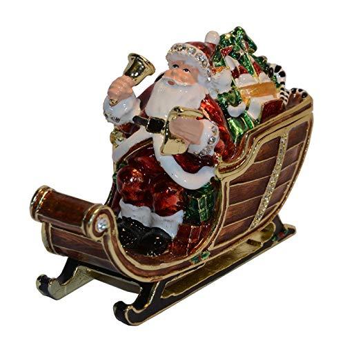 YIYYI Vintage Decoration Box Christmas Father Jewerly Trinket Box Ring Box Jewelry Case Gift Box Christmas Ornament Gift