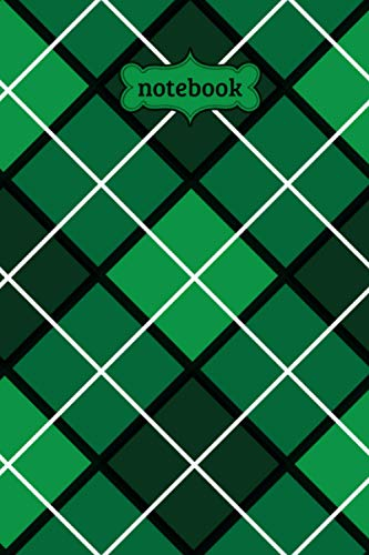 Notebook: Green Argyle Check Plaid Flannel Lumberjack Pattern Journal - Lined Journal & Diary for Writing Taking Notes (6
