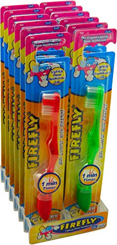 Top kids toothbrush firefly light up for 2020