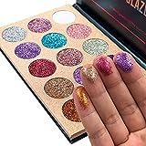 Glitter 15 Colors Long Lasting Eyeshadow Palette...