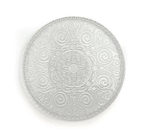 Excelsa Arabesque Plato de Servir, Cristal, Transparente, 31x 31x 1cm