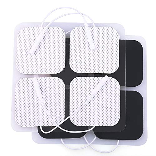 """pads for muscles TENS Unit Replacement Pads 2""""x2"""", 20 Pcs TENS Electrode Pads for Electrotherapy, Self-Adhesive TENS Pads for EMS Muscle Stimulation Machine, Reusable, Latex-Free"""