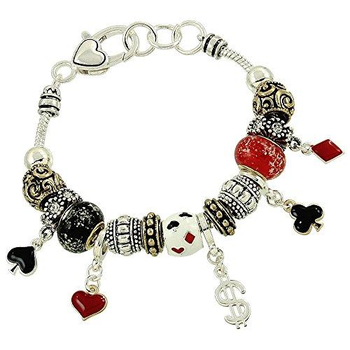 Casino Poker Charm Bracelet