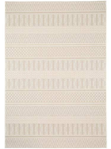 benuta In- & Outdoor Teppich Naoto Beige 120x170 cm | Pflegeleichter Teppich geeignet für Innen- und Außenbreich, Balkon und Terrasse