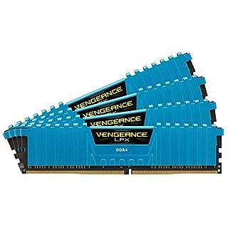 Corsair Vengeance LPX 16GB (4x4GB) DDR4 DRAM 2400MHz (PC4-19200) C14 Memory Kit - Blue (CMK16GX4M4A2400C14B) (B00T7XSHPG) | Amazon price tracker / tracking, Amazon price history charts, Amazon price watches, Amazon price drop alerts