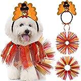 Turkey Headband Party Accessory Thanksgiving Dog Tutu...
