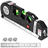 Laser Level Tool, Multipurpose Laser Level Kit Standard Cross Line Laser level Laser Line leveler Beam Tool with Metric Rulers by Qpeuim