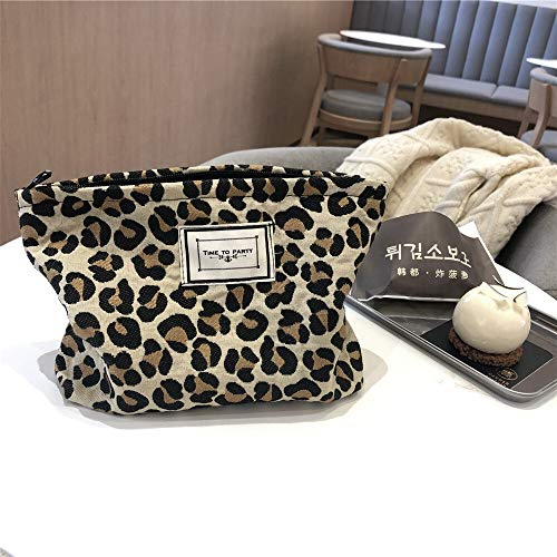 Multifunción Mujeres grandes leopardo bolso cosmético lienzo impermeable cremallera maquillaje bolsa de viaje maquillaje maquillaje organizador caja de belleza para niñas estuche cosmético