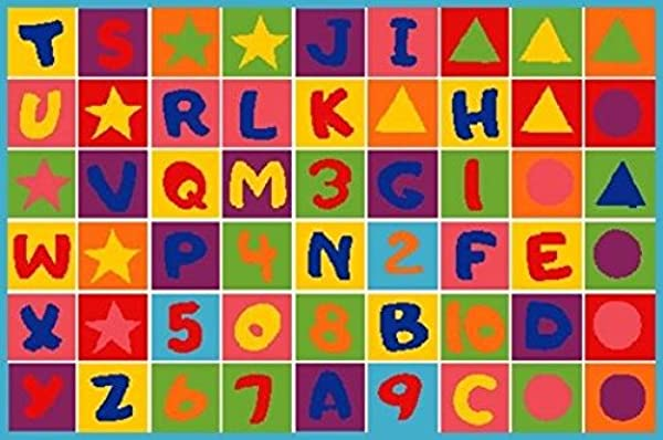 CR S KIDS EDUCATIONAL PLAYTIME RUG LETTERS AND NUMBERS 8 Feet X 10 Feet