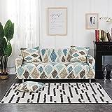 WXQY Wohnzimmer geometrischer elastischer Sofabezug, kombinierter L-förmiger Ecksofabezug,...