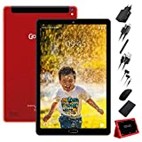 GOODTEL Tablet 10 Pulgadas Full HD Tablet PC , 3GB RAM Quad Core 32GB de ROM, Escalable 64GB Doble Tarjeta SIM Doble HD cámara 8000mAh Batería de Litio,Wi-Fi,Bluetooth,Ratón,Teclado - Rojo