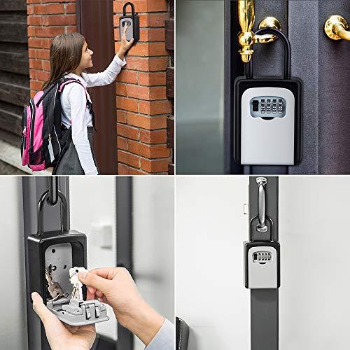 ZHEGEセキュリティキーボックス壁掛け鍵収納4桁ダイヤル式防犯盗難防止