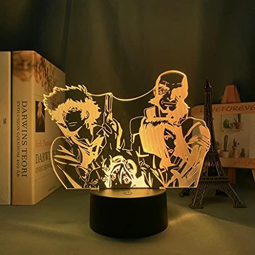 Anime Cowboy Bebop Luz Led para dormitorio Luz de noche decorativa Niños Regalo de cumpleaños Manga Cowboy Bebop Lámpara 3d Mesita de noche
