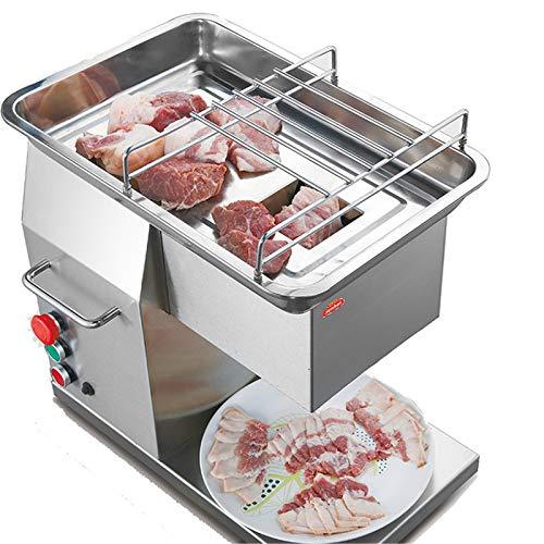 LOVEHOUGE Cortadora comercial de la cortadora de la carne del acero inoxidable W/hoja 200Kg/H, fácil de usar, 600W