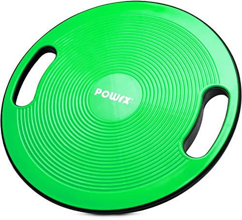 POWRX Balance Board Parfait pour Les Exercices de proprioception générale, de physiothérapie et de Fitness - Diamètre: 40 cm (Vert)