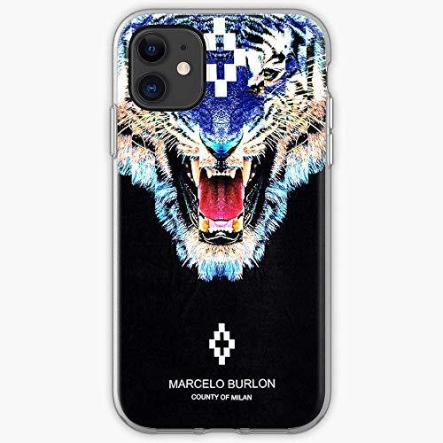 YOIGYUDO Compatibile con iPhone 11 12 PRO Max XR 6/7/8 SE 2020 Case,Burlon Trend Trending Selling Top Tiger Marcelo AntiGraffio Cover