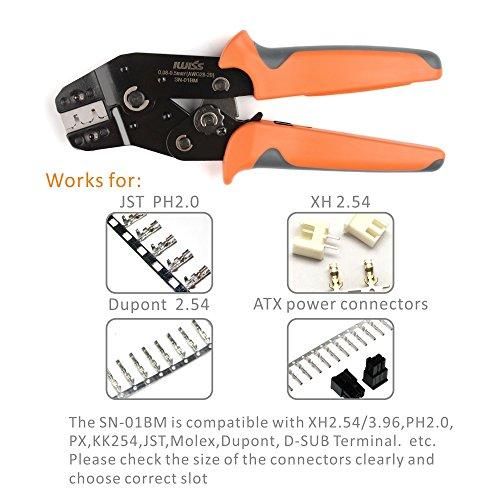 IWISS SN-01BM Ratchet Crimper AWG28-20 for XH2.54/3.96,PH2.0,PX,JST,Molex Terminal