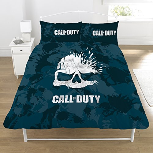 Call of Duty Housse de Couette, Bleu Marine, Double
