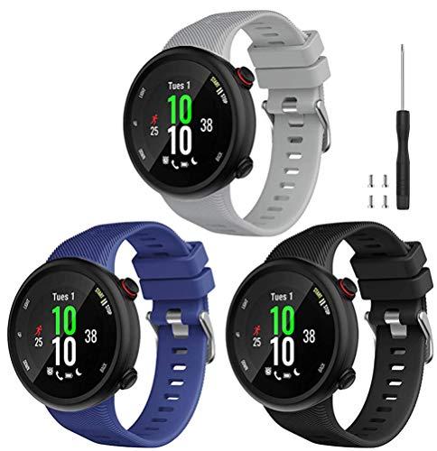 Tyogeephy Compatible con Forerunner 45 Correa de Reloj, Correa de Reloj de Repuesto Deportivo de Silicona Suave, Fitness Correa Pulsera para Forerunner 45 Smartwatch