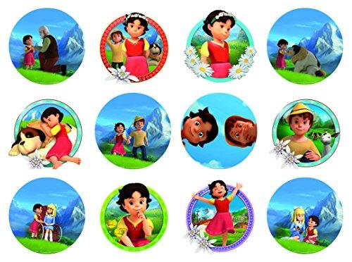 12 Stück Muffinaufleger Muffinfoto Aufleger Foto Bild Heidi (19) rund ca. 6 cm *NEU*OVP*