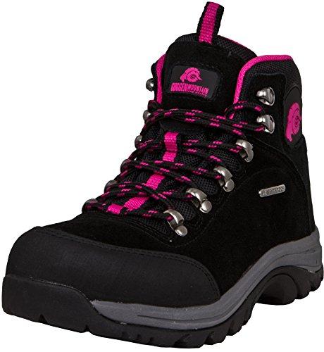 GUGGEN Mountain M014 Damen Trekking-& Wanderstiefel Outdoorschuhe wasserdicht mit Membran und Wildleder Farbe Pink EU 40