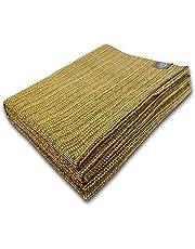Craft Story Filt Yara I Uni gul av 100 % bomull I överkast I soffa filt I överkast I picknickfilt I Använd- & skyddsfilt I ca.170 x 220 cm