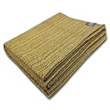 Craft Story Decke Yara I Uni gelb aus 100prozent Baumwolle I Tagesdecke I Sofa-Decke I Überwurf I Picknickdecke I Nutz- und Schutzdecke I ca.170 x 220cm