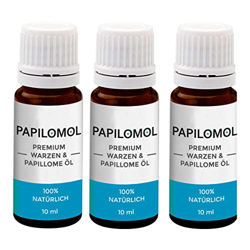 Papilomol Öl | Das Original | Warzen & Papillome Öl - Hochdosiert | 3 Flaschen