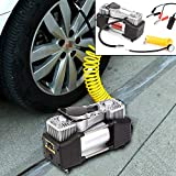 Tyre Inflator air Compressor Double Cylinder Tyre Inflator 12v air Compressor tyre Pump for Cars Motorcycles...