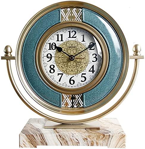 Reloj de escritorio con números arábigos Reloj de escritorio creativo Mute Mantel Reloj Decoración de escritorio para el hogar Reloj de mesa de 12.4 pulgadas alimentado por batería reloj de mesa