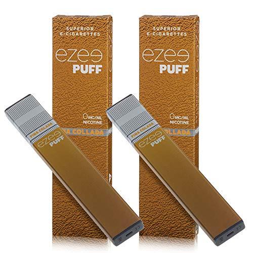 Ezee Puff Einweg E-Zigarette Pina Colada-Geschmack E-Liquid Nikotinfrei Elektronische Zigarette 280mAh Akku E-Shisha 2 Stück