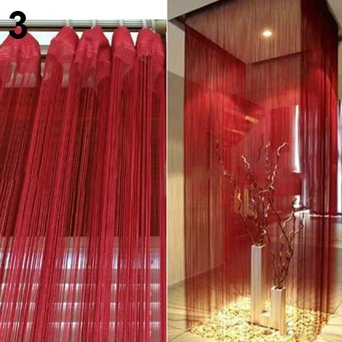 Oce180anYLV Türvorhang, einfarbige Fäden, Türvorhang, Raumteiler, Fenster-Dekoration, DIY-Rollo