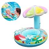 Anillo de natación Inflable para bebé,Asientos de Natación para Bebés,Anillo de Natación Inflable,Apto para niños de 6 a 36 Meses,Flotador De Natación para Bebés,Anillo de Natación (Barco Hongo Azul)