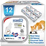 Forza10 Actiwet Urinary Wet Cat Food, Urinary Tract Health Cat Food Wet Canned Vet Approved Omega 3 Grain Free, 3.5 oz, Salmon, Adult Cats, 12 Case