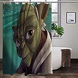 Large Puzzle Star Wars - Juego de cortinas de ducha con 12 ganchos, decoración de acuarela, accesorios modernos de baño, lavable a máquina (167,6 x 183 cm)