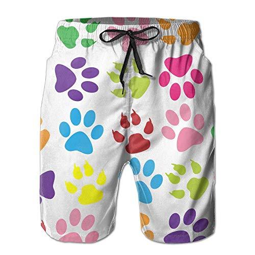 Colorido PPrints Pattern Troncos de Surf de Verano de Pantalones Cortos de Tabla de Surf Pantalones Cortos de Playas