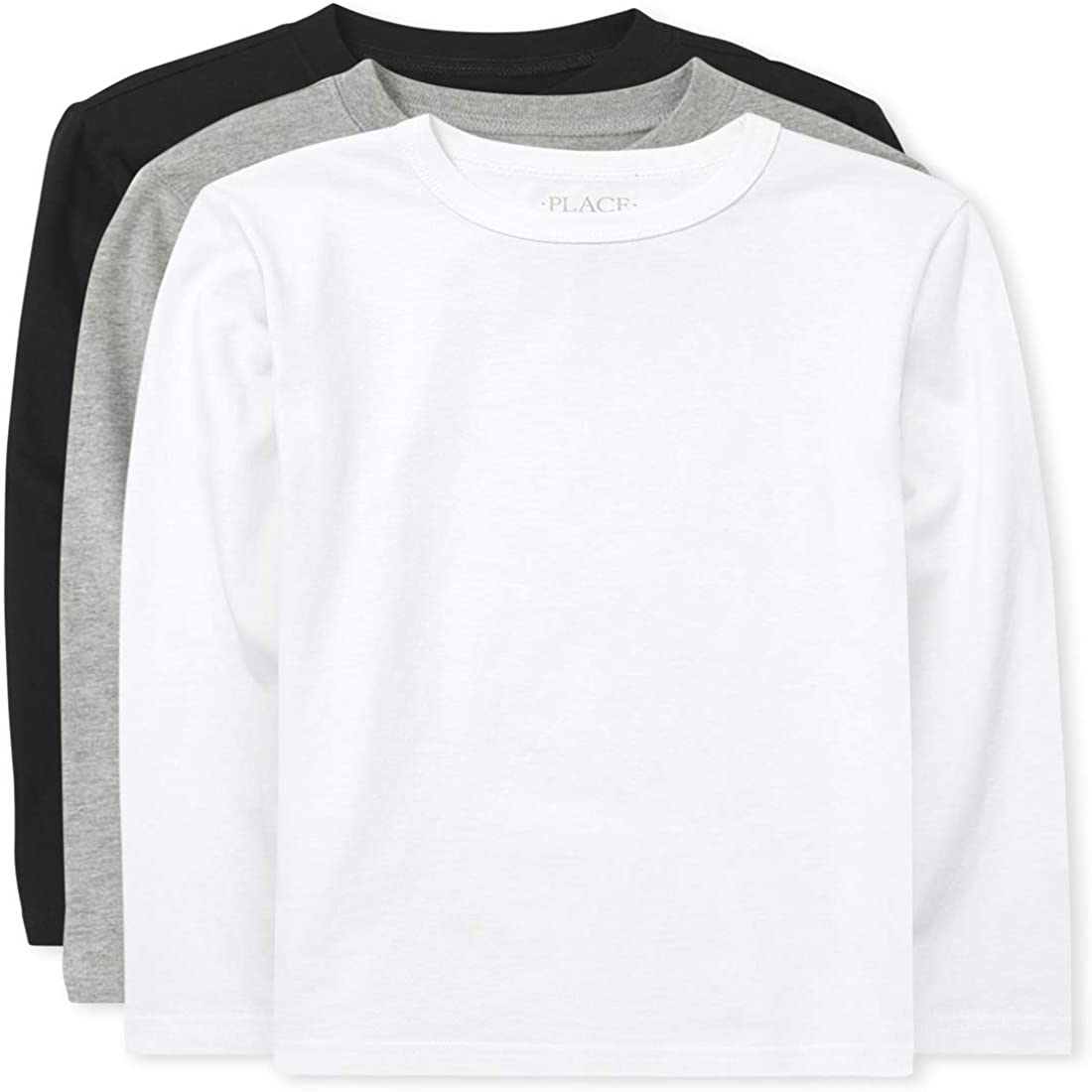 The Children's Place Boys' Uniform Basic Layering Tee 4-Pack
