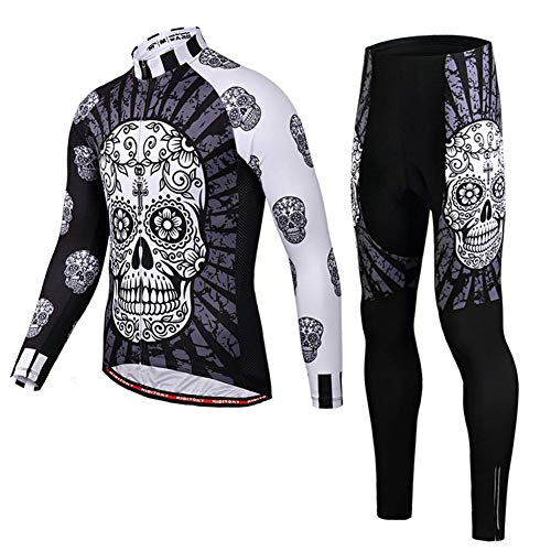 JW Winter outdoor Cycling Jersey set Long Sleeve Road MTB Bicycle Sportswear Windproof Jackets Bib tights Combo set cycle Clothing suit Mens & ladies,D,S