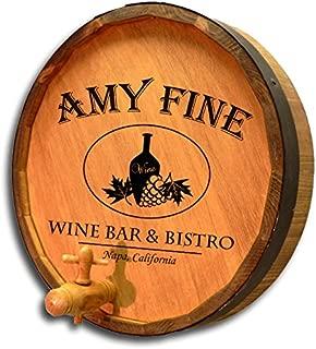 Personalized Wine Bar & Bistro Quarter Barrel Sign