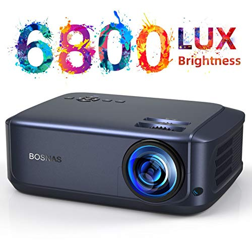 BOSNAS Beamer, Native 1080P Full Hd Video Beamer, 6800 Lumen 300