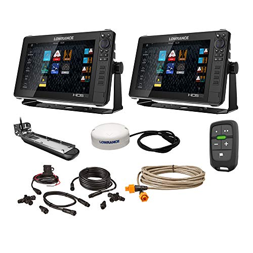 Lowrance HDS Live Bundle - 2-12 Displays, AI 3-in-1 T/M Transducer, Point 1 GPS, LR-1 Remote & Cabling -  000-15783-001